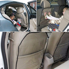 New Car Seat Cover Protector Anti Kick Mat Kids Car Seat Back Protector Children Storage Pocket Wear Resistant Protection Cover