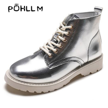 Net red Martin boots female 2019 autumn new ins lace motorcycle students short flat women wholesaleF47