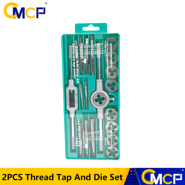 Hand Tools 20pcs High Quality Tap And Die Set Thread Tap And Dies Adjustable Tap Wrench 1/8 1/2 3mm 12mm Screw Tap
