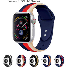 Silicone strap  for Apple Watch band 44mm 40mm iwatch Band 38mm 42mm Sport bracelet colors Rubber watchband apple watch 5 4 3 2 sport watch strap for apple watch 3 2 1 4 iwatch band 42mm 38mm 44mm 40mm natural silicone bracelet wrist belt rubber watchband