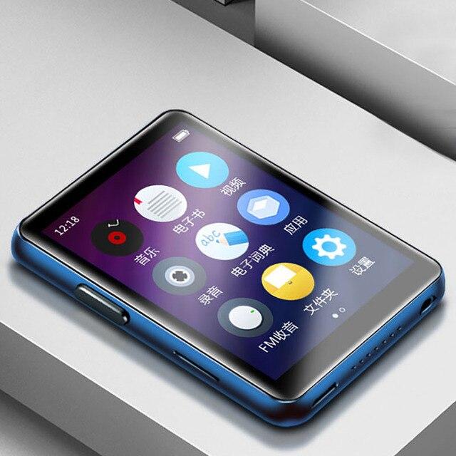 BENJIE X5 2.5 inç dokunmatik ekran Bluetooth5.0 MP3 oynatıcı dahili hoparlör desteği FM radyo kayıt Video e kitap MP3 oyuncu