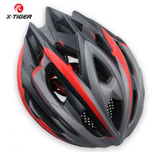 X-TIGER TRAIL XC Cycling Helmet With Hat EPS+PC Cover MTB Bike Helmet Integrally-mold Cycling Mountain Bicycle Helmet(China)