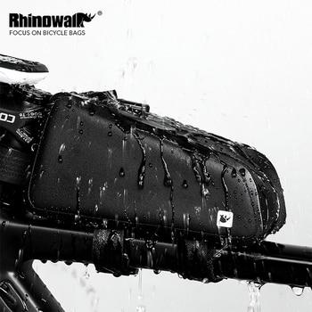 Rhinowalk велосипедная Сумка водонепроницаемая велосипедная верхняя передняя Труба каркасная сумка большая емкость MTB дорожный велосипед Pannier ...