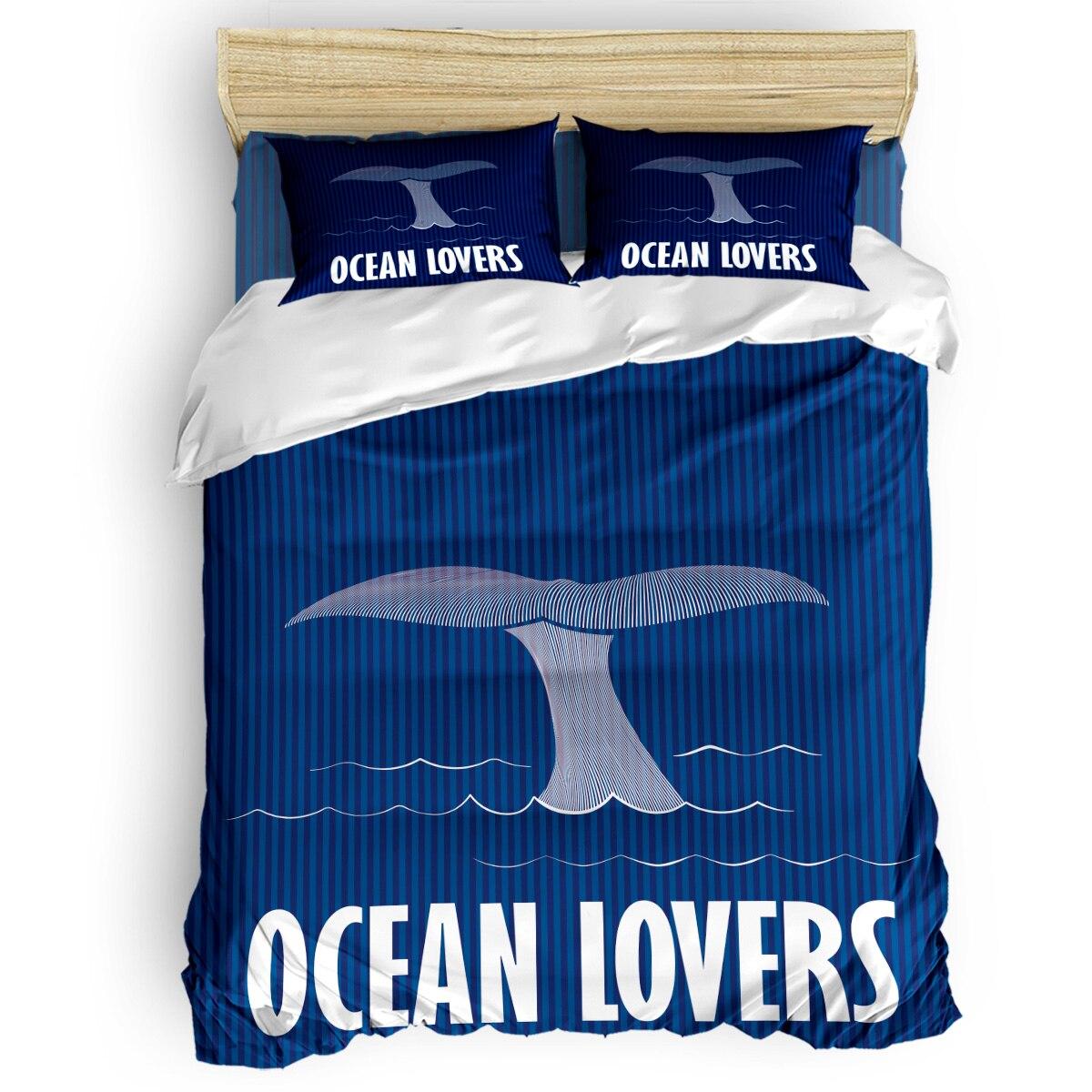 Marine Series Whale Tail Enthusiasts Printing Custom Bedding Set 3D Digital Printing Christmas Bedding Set US KING QUEEN