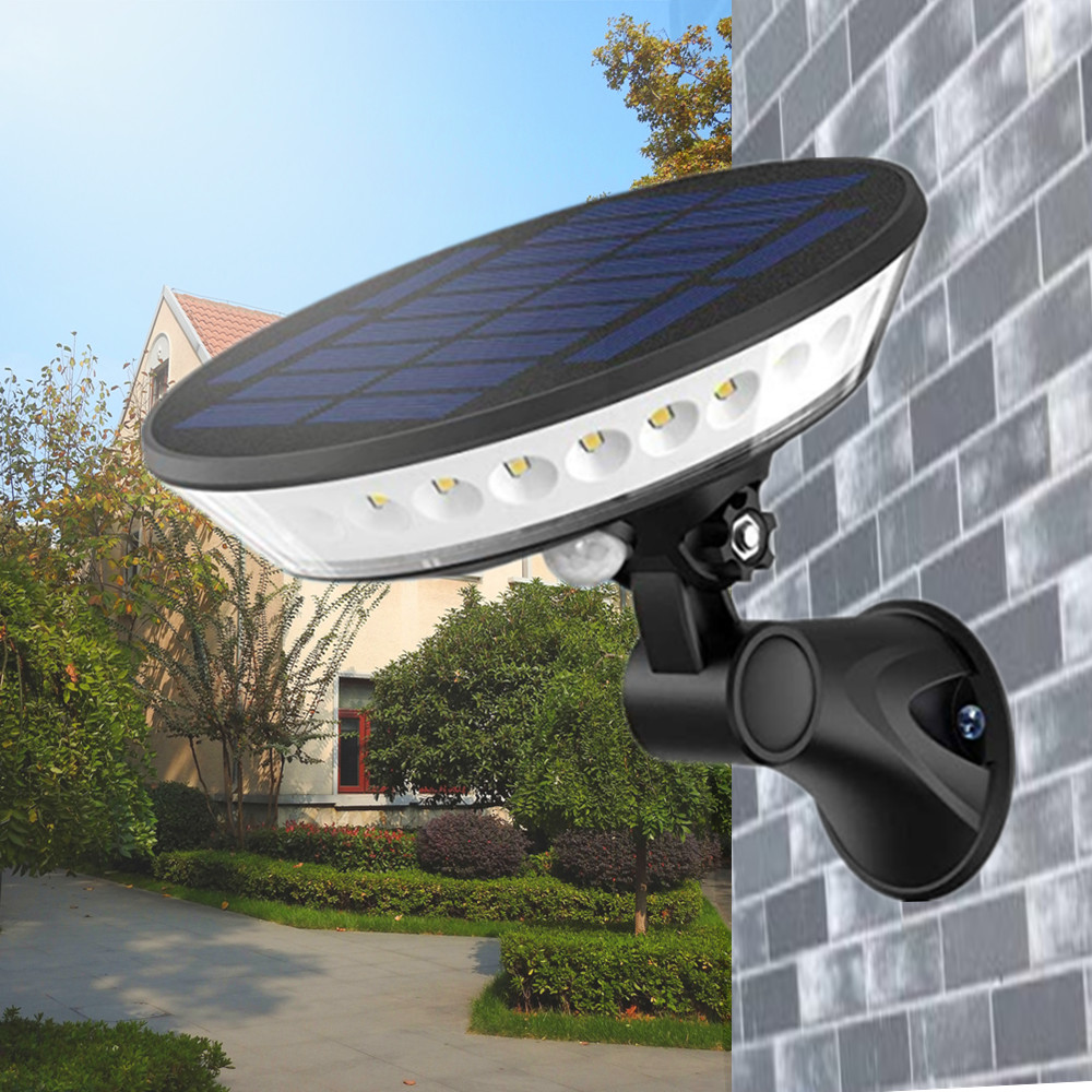 Solar Light Outdoor 3 Modes Wireless PIR Motion Sensor Light With 360° Illumination 80° Adjustable Waterproof Security Wall Lamp