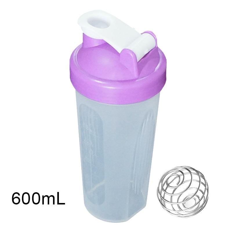 400ml/600ml Protein Powder Shake Bottle Mixing Bottle Sports Fitness Protein Shaker Sports Water Bottle