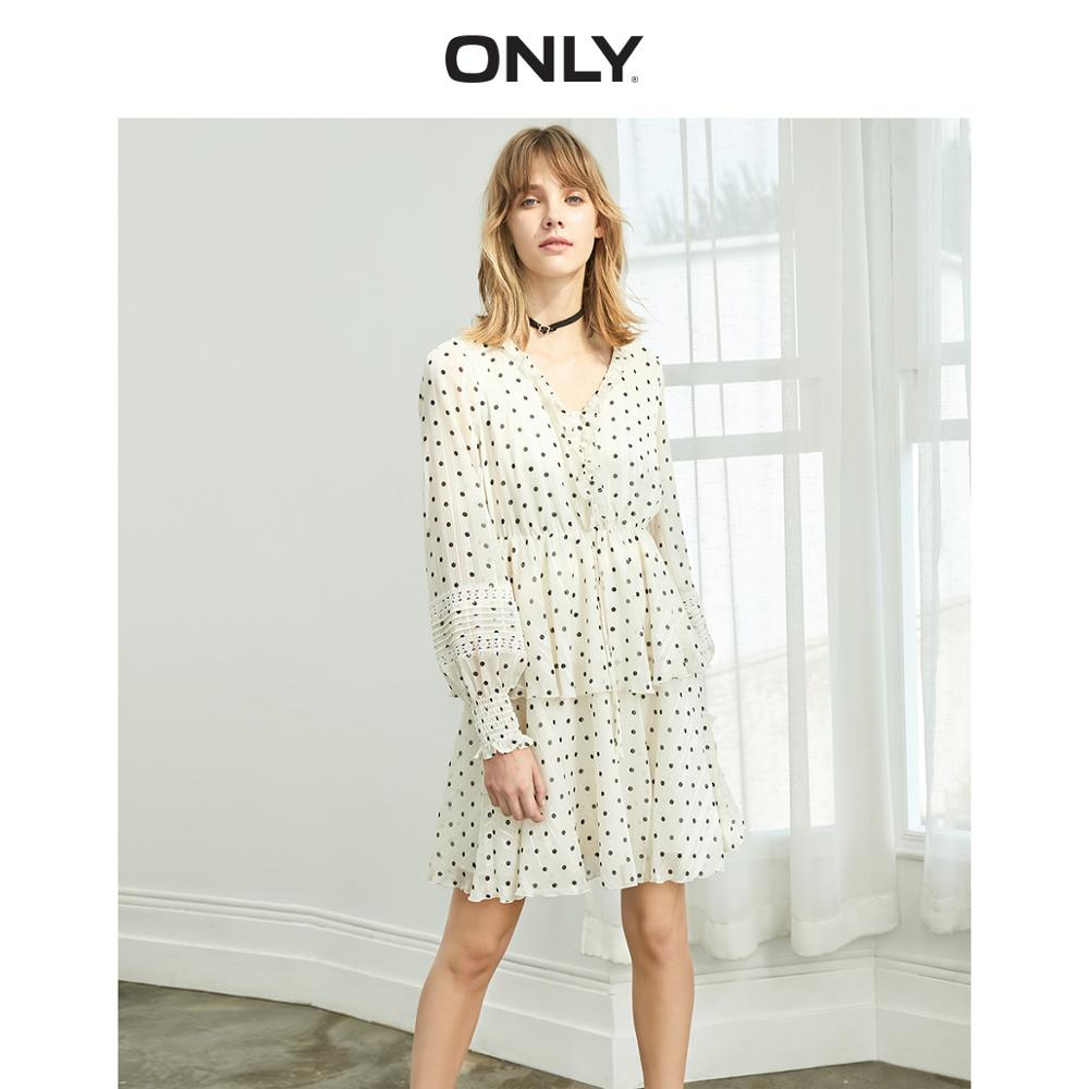 ONLY  Autumn Polka Dot Gauzy Dress  | 119307611