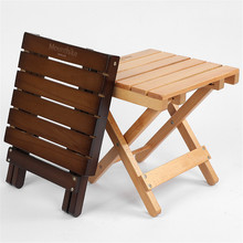 Outdoor Wood Chair Mini Folding Beech Protable Rivet Fixed Durable Breathable Camping Picnic Fishing Beach Garden Wooden Stool