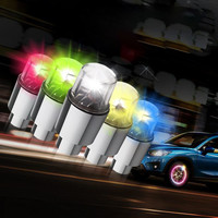 1pcs Spoke Light Wheel Valve LED Tire Valve Stem Caps Neon Light Auto Accessories Bike Bicycle Car Waterproof Youthful Cycling|Bicycle Light| |  -