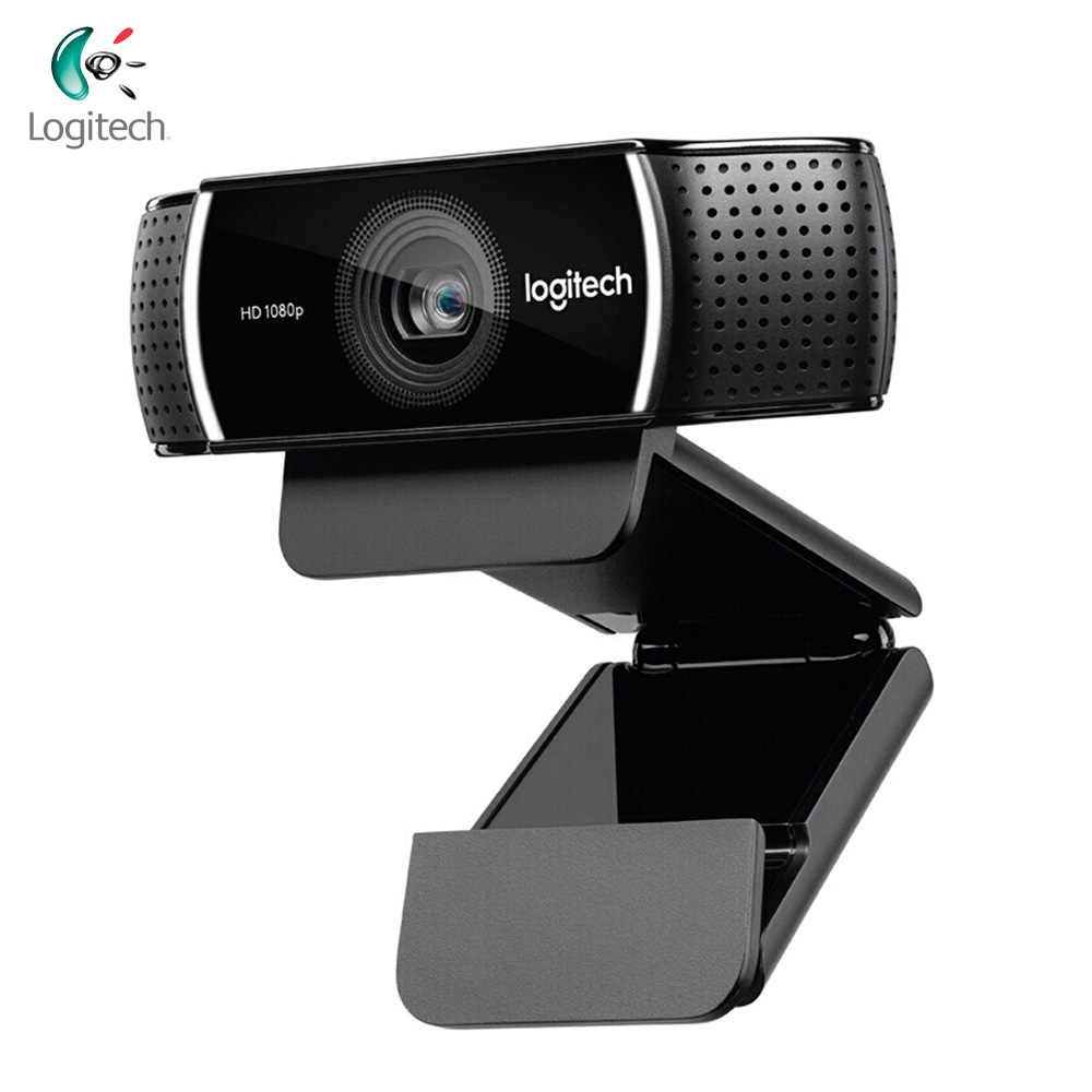 Logitech C922 Pro Webcam 1080P Full HD Video Streaming Autofocus Anchor Kamera Web Latar Belakang Switch Built-In Dual Mic dengan tripod