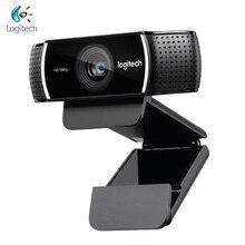 로지텍 C922 프로 웹캠 1080P 30FPS 풀 HD 스트리밍 비디오 앵커 웹 카메라 자동 초점 삼각대가있는 스테레오 마이크 내장
