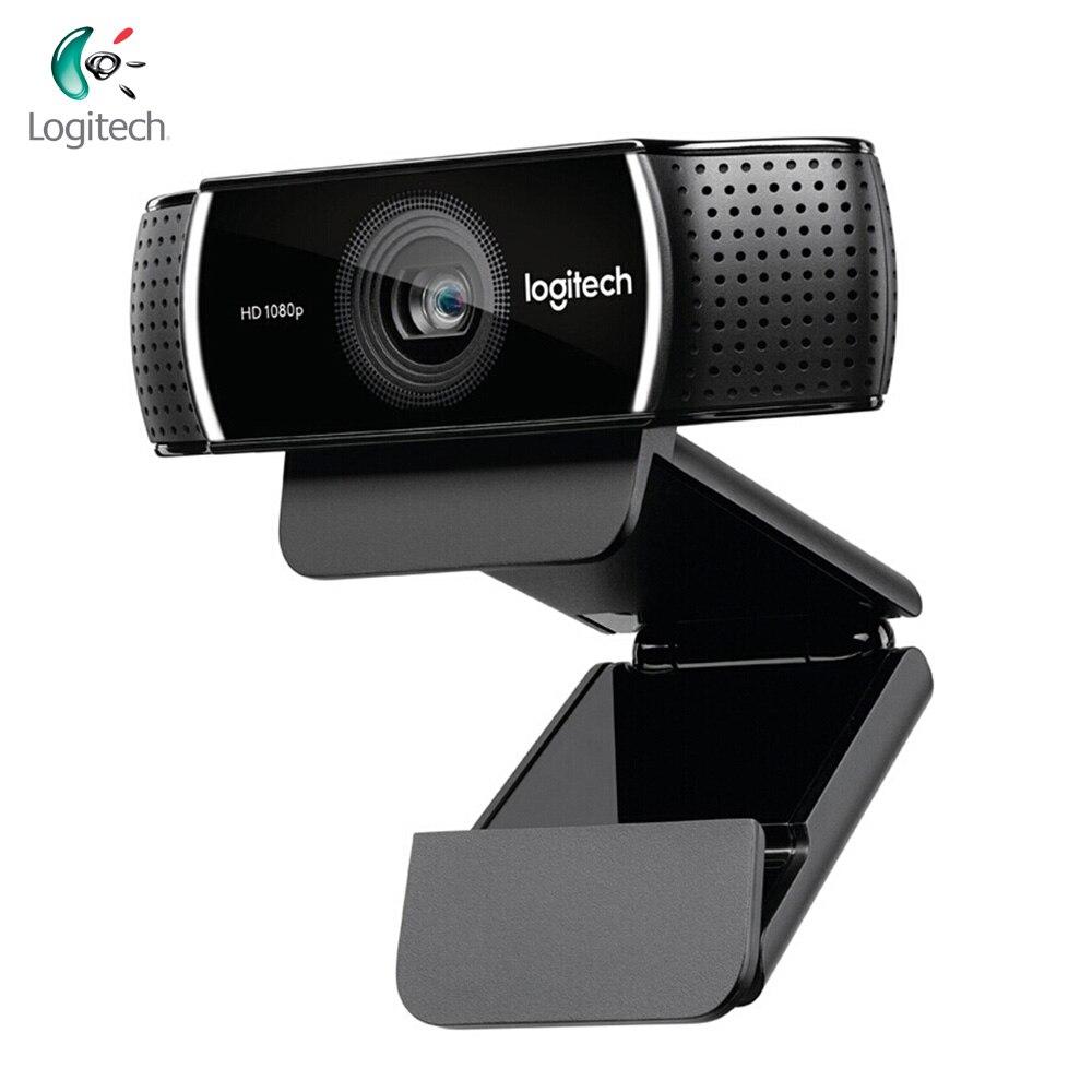Logitech C922 PRO Webcam 1080P Volle HD Video Stream Anker Kamera Hintergrund Schalter Autofokus Eingebaute Mikrofon Mit Stativ