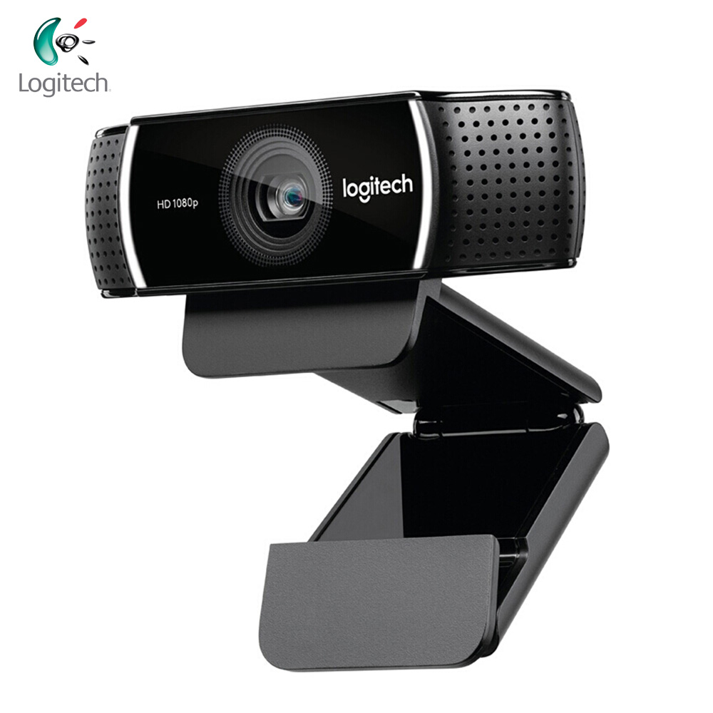Logitech C922 PRO Webcam 1080P flux vidéo Full HD Autofocus ancre Web caméra commutateur de fond intégré double micro avec trépied