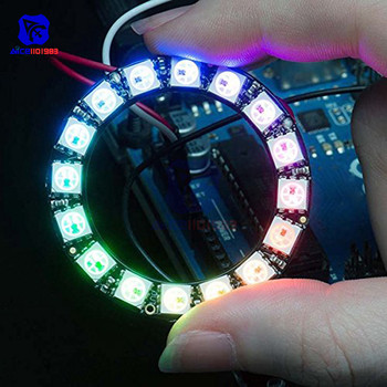 diymore WS2812 5050 RGB LED Lamp Ring Built-in Driving Lights 45mm Round 16Bit RGB LED Integrated Drivers for Arduino