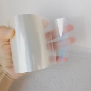 Holographic Foil Sand Transparent Foil Hot Stamping On Paper or Plastic 8cm x 120m/Lot DIY Package Box