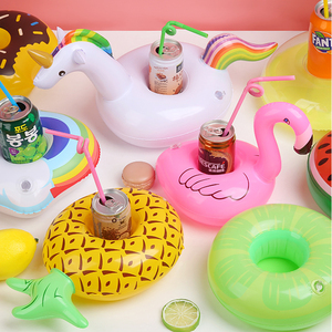 Juguetes de piscina para bebé, soporte para bebidas inflable, vasos de flamenco, posavasos para Bar, dispositivos de flotación