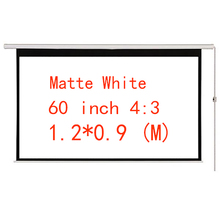 Thinyou Electric curtains 60 inch 4:3 Motorized Screen With Remote for LED LCD DLP  Projector Electric Projector Screen