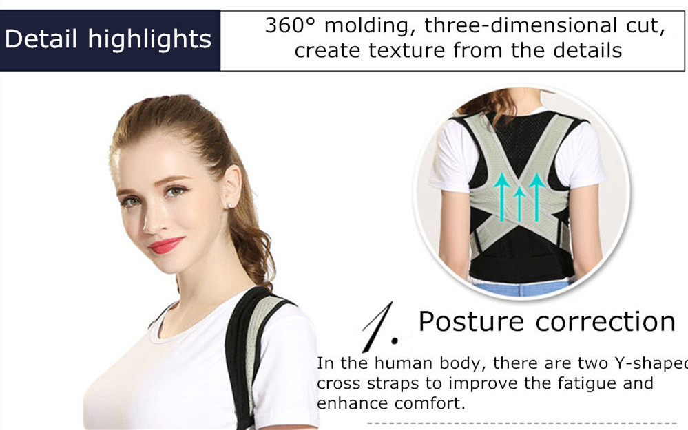 Tlinna Posture Corrector Belt with Adjustable Dual Strap Design to Get Perfect and Confident Body Posture Suitable to Wear Under or Over Clothing 25