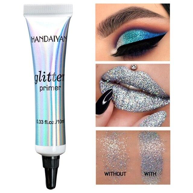 Glitter Primer Sequined Primer Eye Makeup Cream Waterproof Sequin Glitter Eyeshadow Glue Korean Cosmetics