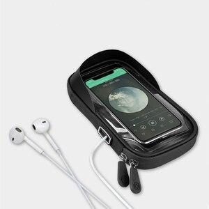 Image 5 - Untoom עמיד למים אופני אופניים טלפון הר תיק מקרה אופנוע כידון טלפון מחזיק Stand עבור 4.5 6.4 אינץ נייד סלולרי טלפונים