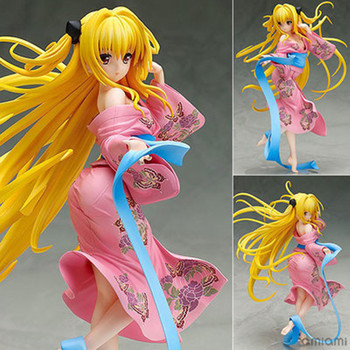 Japan Anime To Love Ru Golden Darkness Eve Yami Yukata Ver. Sexy Girl PVC Action Figure Lala Collection Model Toys Movie 1