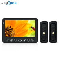 Jeatone Video Door Phone Intercom Wired 10 Inch Monitor Night Vision Doorbell Camera Support Motion Sensor Record Home Intercoms