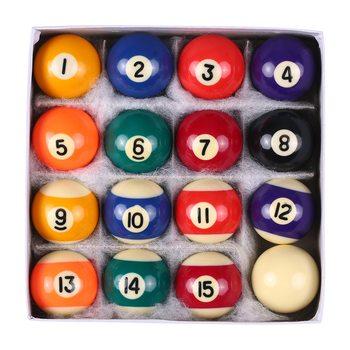 Profesjonalne 25 MM 38 MM dzieci stół bilardowy zestaw żywicy mały kij bilardowy pełny zestaw 16 sztuk Mini kule bilardowe zestaw tanie i dobre opinie Snooker Cue Ball Set Kompletny zestaw z kulkami Żywica