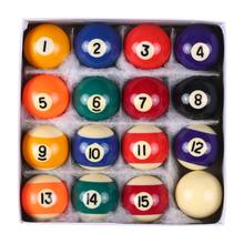 Professional 25MM / 38MM Children Billiards Table Balls Set Resin Small Pool Cue Balls Full Set 16 PCS Mini Billiard balls Set(China)