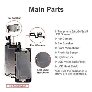 Image 2 - Класс AAA + + + экран для iPhone 6 6S Plus ЖК дигитайзер полная сборка для iPhone 7 дисплей для Apple с камерой ушной динамик