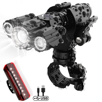 Bike light 1000 Lumen Flashlight For USB Rechargeable 18650 Battery MTB  Bicycle Front Light Waterproof LED Headlight Lantern led flashlight usb bike light lantern bicycle lights front headlight with battery lamp cycling mtb torches bike accessories