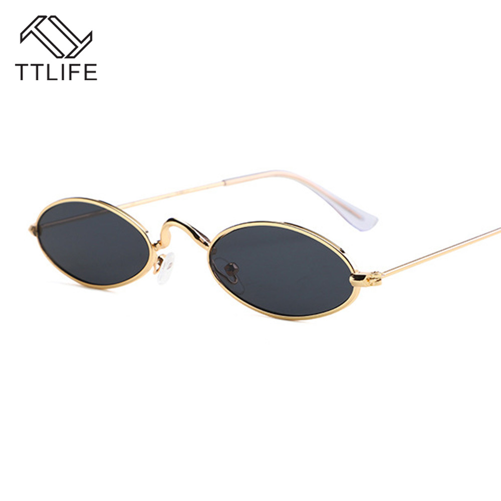 TTLIFE Retro Small Oval Sunglasses Women  Balck Glasses Sunglass lady Luxury Eyewear Female Vintage Hip Hop Oculos