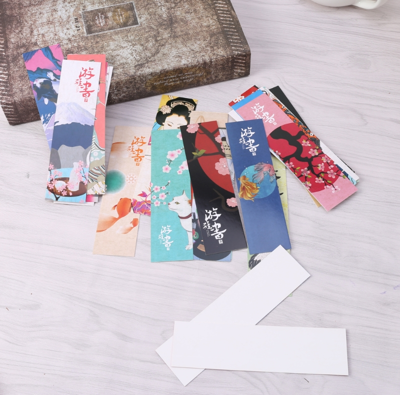 30Pcs/Bag Paper Bookmark Vintage Japanese Style Book Marks For School Student L41E