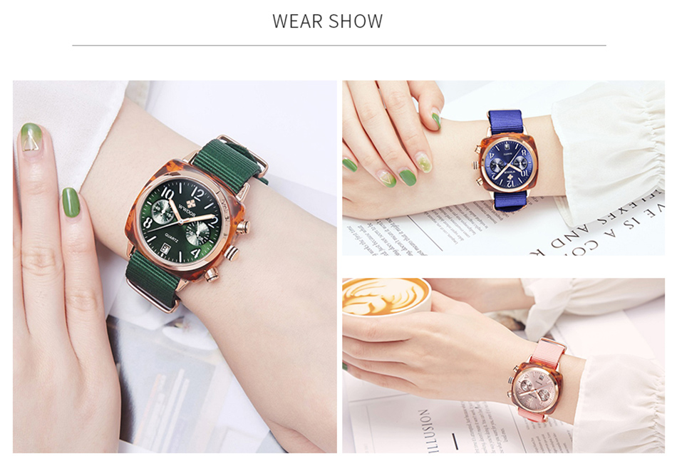 Montre à Quartz bracelets Nylon mode femmes