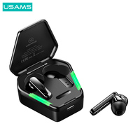 USAMS tws Wireless Earphones Gaming Earbuds Noise cancelling Bluetooth 5.0 Earphone with Omnidirectional Mic for Xiaomi iPhone Samsung Huawei
