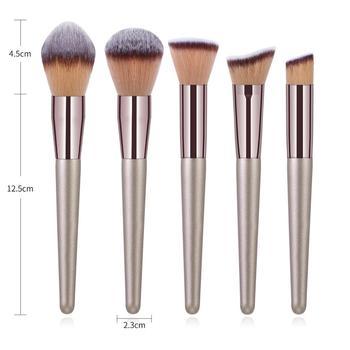 10PCs Makeup Brushes Set Cosmetic Brushes Set Make up Tool kit Foundation Natural-synthetic Hair Eye Shadow Blending Maquiagem 2