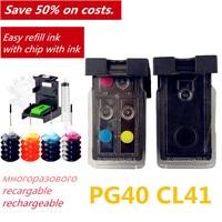 PG40 CL41 Compatível Cartucho de Tinta Recarregáveis para Canon PIXMA IP1800 IP1200 IP1900 IP1600 MX300 MX310 MP160 MP140 MP150 Impressora