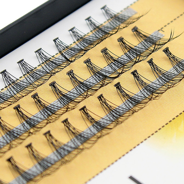 Kimcci Natural long Individual Flare Lashes Cluster False Eyelashes 60 bundles/boxes Makeup 10D Mink Eyelash Extension Grafting 4