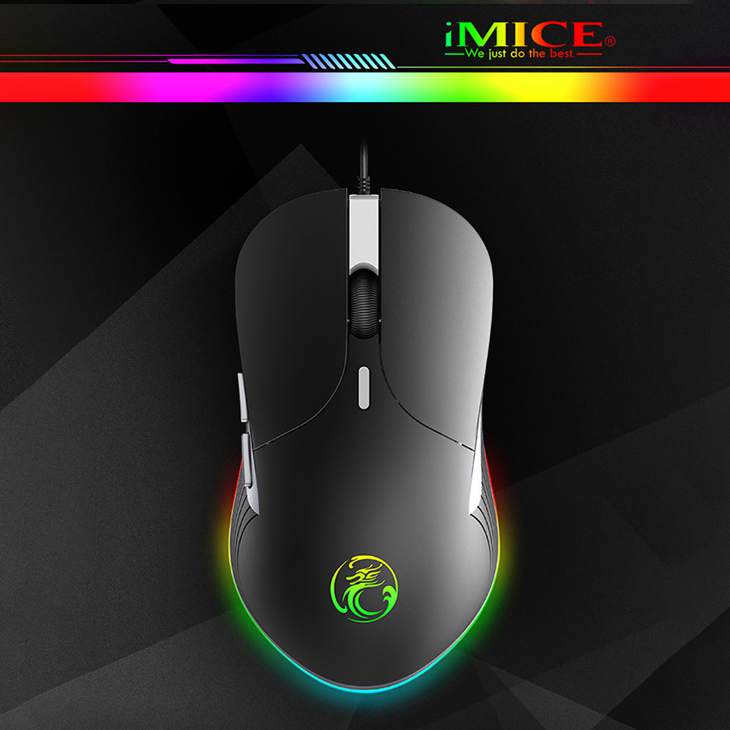 2020 Gaming Mouse Imice X6 6400dpi Usb Wired Backlit Optical Mouse Ergonomic Game Portable Mice Мышь Мышка Dropshipping #3