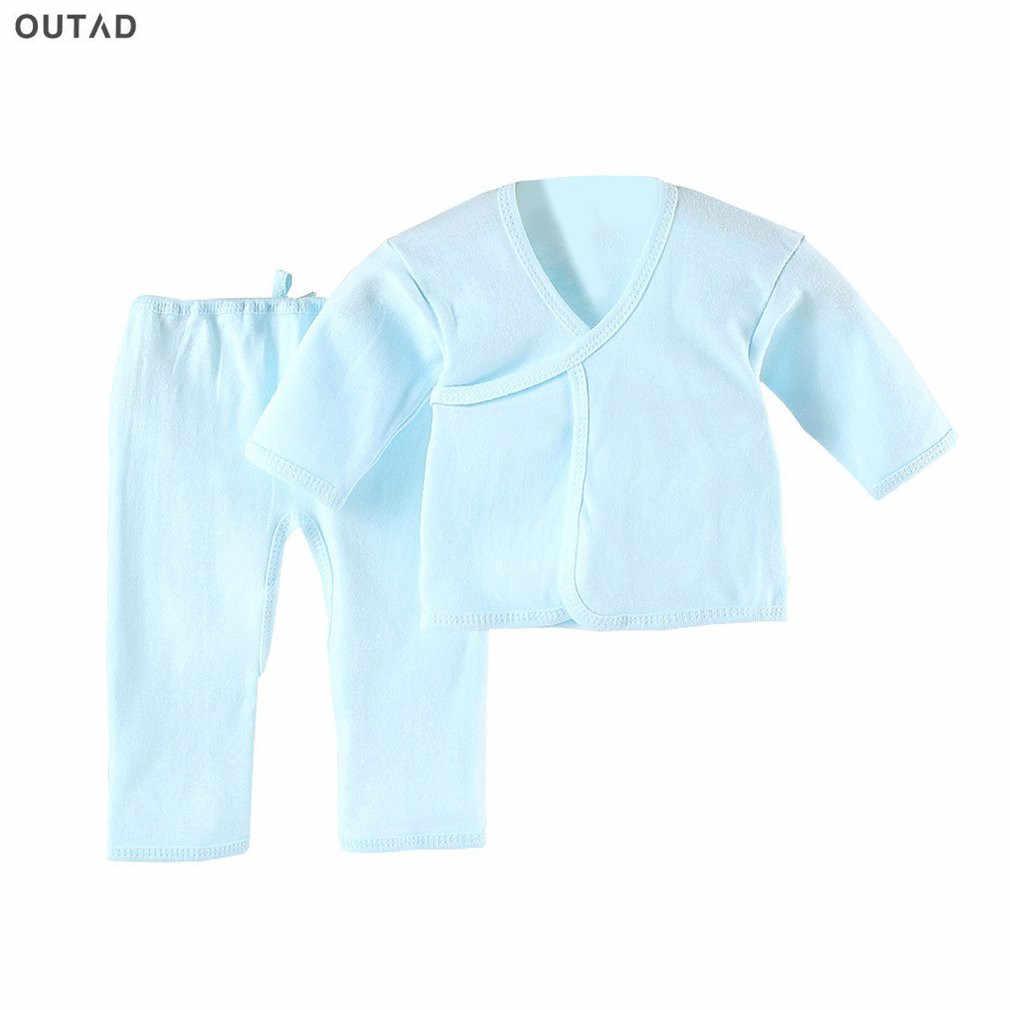 Outad 유아 정장 편안한 신생아 의류 부드러운 순수 코튼 속옷 아기 의류 세트 0-3 개월 모든 계절에 적합