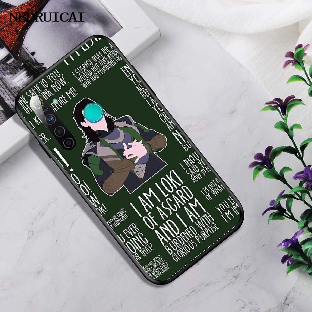 Nbdruicai マーベルヒーローロキブリンブリンかわいい電話ケース oppo realme 5 3 2 プロ F7 F9 F11 F3 リノカバー