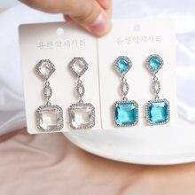 Mwsonya 2020 модные корейские квадратные серьги с кристаллами