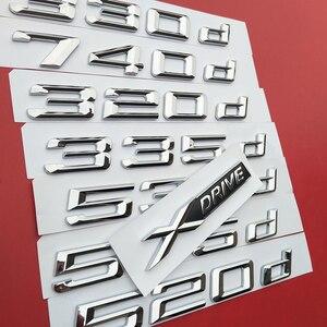 DIY Number Letter 316d 318d 320d 325d 330d 520d 530d 535d 550d 740d 750d 760d Emblem for BMW Diesel Oil Fuel Trunk Logo Sti(China)