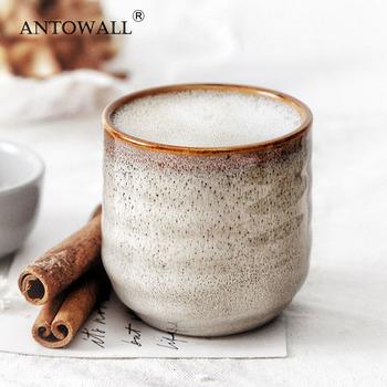 ANTOWALL chiński ceramiczny kubek na herbatę Klin szkliwiony 200ml porcelanowa filiżanka ciepła filiżanka prezent filiżanka kawy kubek wody mleka tanie i dobre opinie CN (pochodzenie) Filiżanki do herbaty Porcelany Pigmentowane Lfgb CE UE KL05-457 Na stanie Ekologiczne Puchary spodki