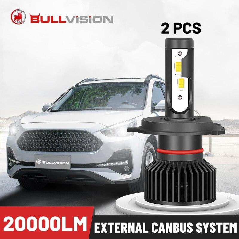 Bullvision H7 LED Scheinwerfer 20000LM Externe Canbus 2PCS H4 H1 H13 H3 9012 HIR2 5202 9007 9008 9005 9006 9003 HB3 HB4 HB5 H11 H8