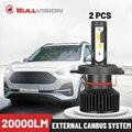 Bullvision H7 светодиодный фар 20000LM внешний Canbus 2 шт. H4 H1 H13 H3 9012 HIR2 5202 9007 9008 9005 9006 9003 HB3 HB4 HB5 H11 H8