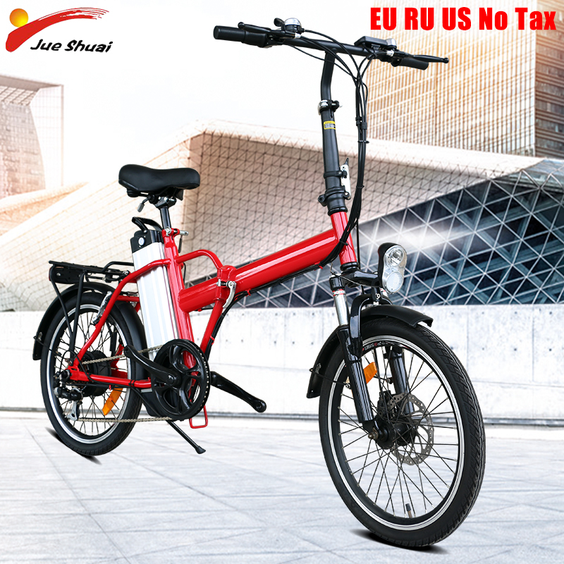 Smart Folding Electric Bike for adult 20inch Mini Electric Bicycle 36V10A Battery City e bike 250W Powerful ebike 35km/h sctooer
