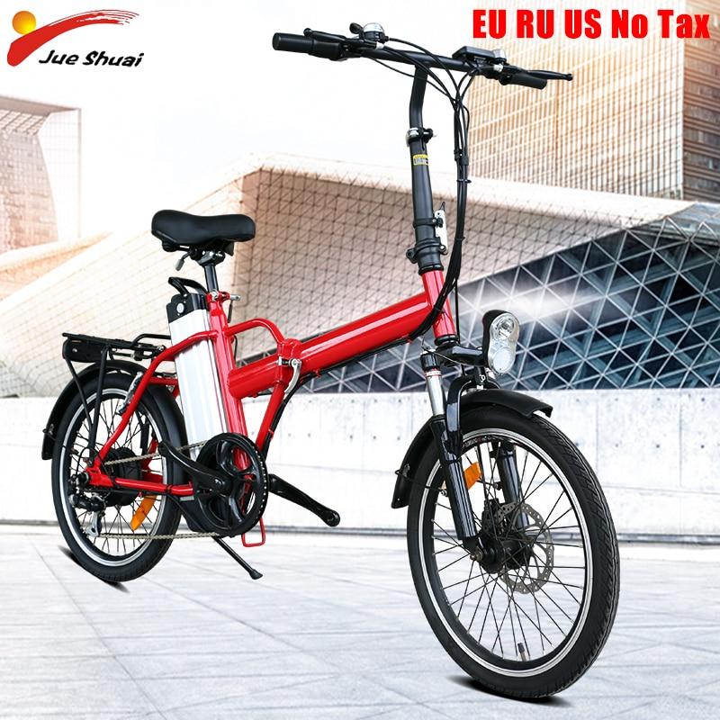 Smart Folding Electric Bike for adult 20inch Mini Electric Bicycle 36V10A Battery City e bike 250W Powerful ebike 35km/h sctooer
