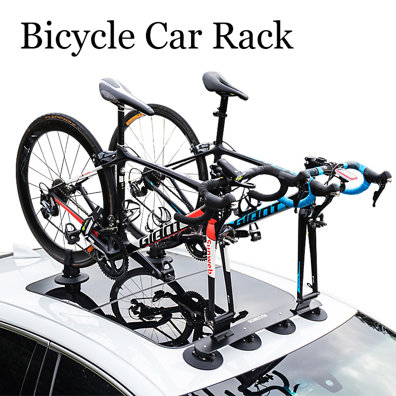 ROCKBROS Bicycle Rack Roof-Top Suction Bike Car Rack Carrier Quick Installation Sucker Roof Rack For MTB Mountain Bike Road Bike