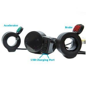 Image 2 - Mini Round Electric Bike Scooter Controller Brake LCD Unit Carbon Fiber Scooter Motor Controller 24v 36v 48v 250w 350w