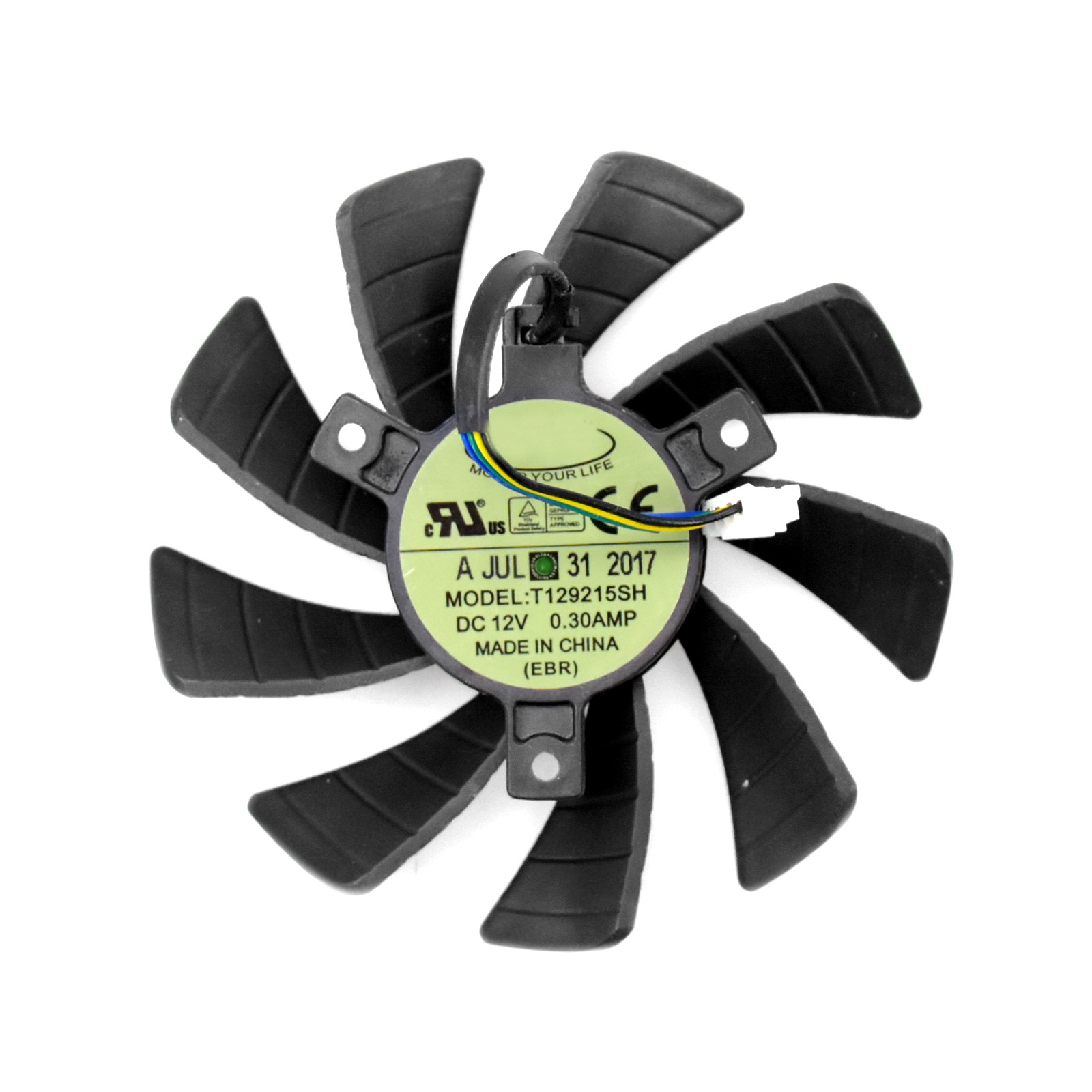 For ZOTAC <font><b>GTX</b></font> 950 960 <font><b>1060</b></font> <font><b>Mini</b></font> ITX P106-090 Graphics Card Cooling Fan T129215SH image
